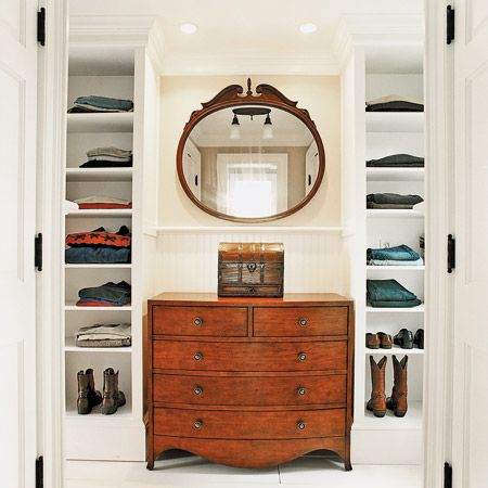 Dressing Room Shelving Built Ins Create An Alcove For