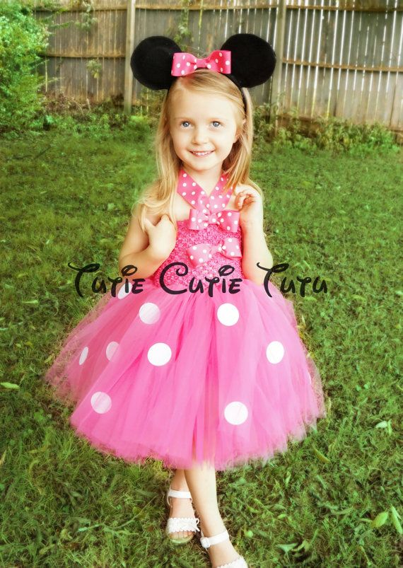 Minnie Mouse Costume Tutu Dress by TutieCutieTutus on Etsy, $48.00