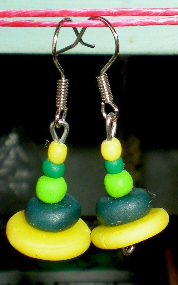 Polymer clay handmade earrings by Ralitsa by Inspiration2Art, $8.99