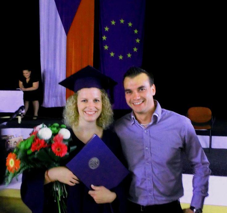 Acompañando a Vero en su graduación