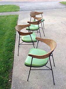 mid century patio furniture | MID-CENTURY-MODERN-salterini-style-tiki-lounge-chairs-Patio-Umanoff ...