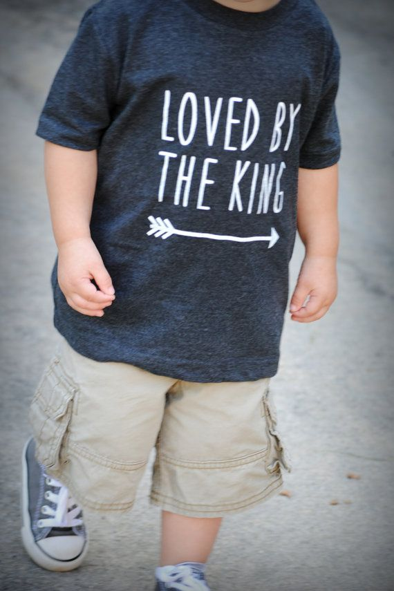 Toddler Loved By The King Vintage Heathered by SimpleTruthsDesigns, $12.00