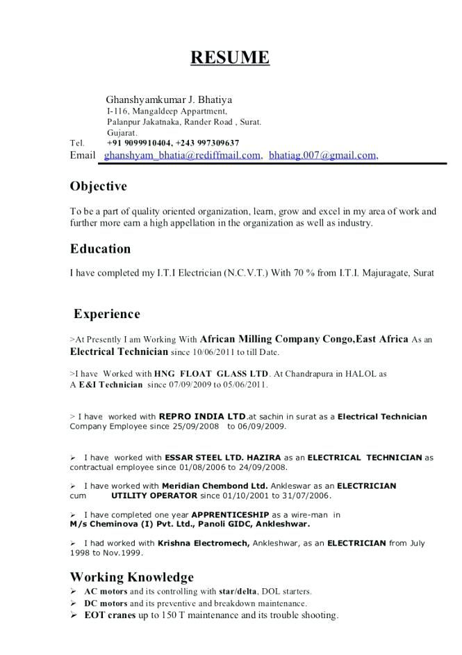 Master Electrician Resume Awesome Collection Of Master