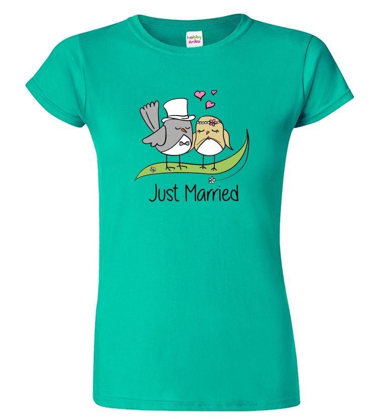 """Svatební dárek pro novomanžele - Milé svatební tričko. Nabízíme do série s ostatními produkty v sekci """"související zboží"""