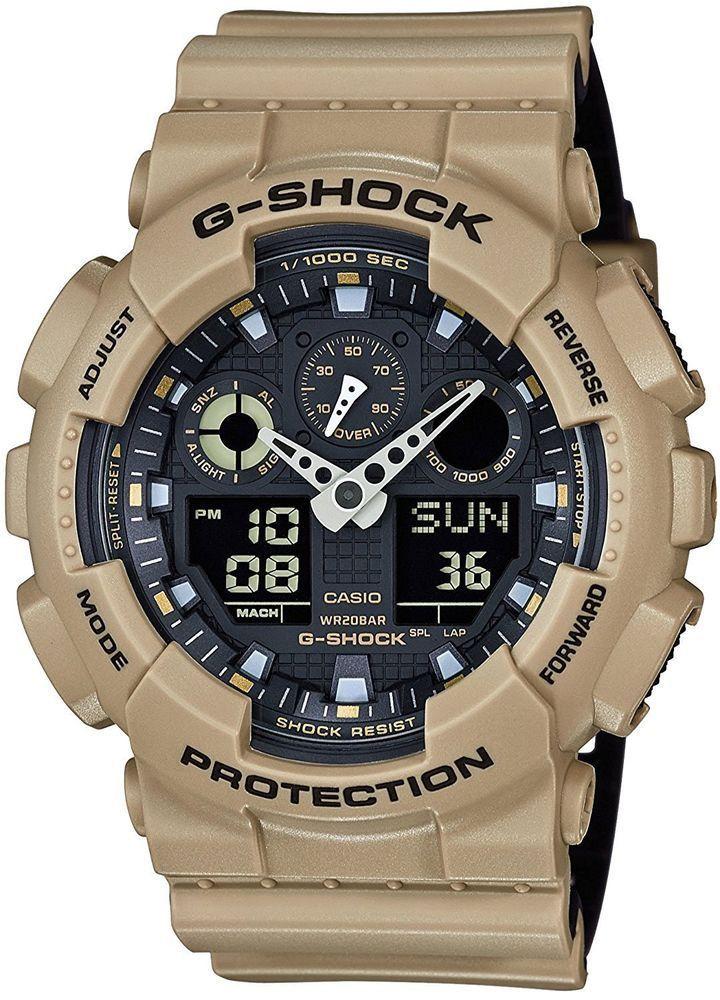 b45589c6c4 CASIO Men's Watch Auth G-SHOCK GA-100L-8AJF Analog Digital Beige military