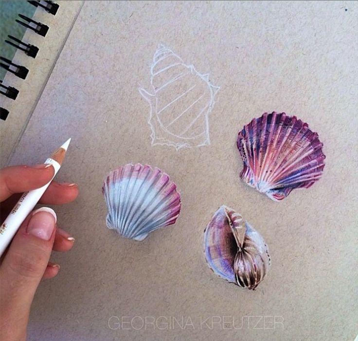 Shells by Georgina Kruetzer on Strathmore Toned Tan