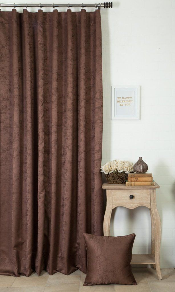 'LUPIEN JAVA' CUSTOM DRAPES (BROWN) $51.00  https://www.spiffyspools.com/collections/curtains/products/lupien-java-brown-curtains?variant=1820693987352