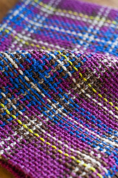 Princess Franklin Plaid Collar | (Stitches in Time) : Knitty Winter 2013