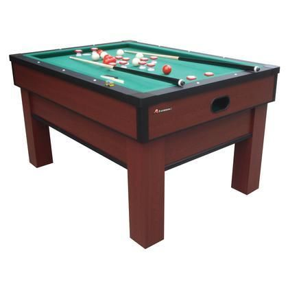 "G02251AW Classic Bumper Pool with Two 48"" Cues a Set of Bumper Pool Balls a Brush and Chalk"