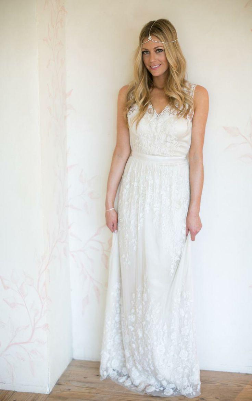 blogger Devon Rachel wearing the Sian Gown from BHLDN