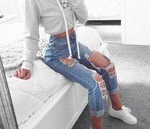 Вдохновляющая картинка мода, лук, комплект одежды, рваные джинсы, стиль, 4075320 - Размер 500x534px - Найдите картинки на Ваш вкус