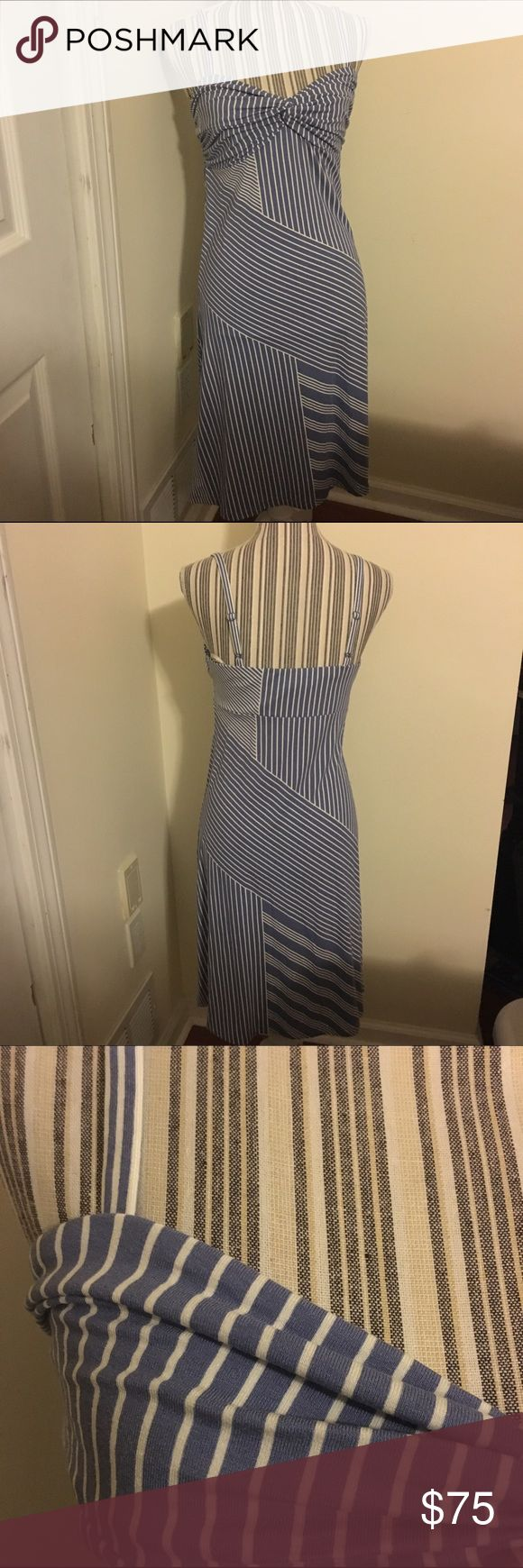 Tommy Bahama Striped Short Dress Light Blue and White dress with adjustable straps. Super cute and comfy, stretchy material. New with tags. Tommy Bahama Dresses