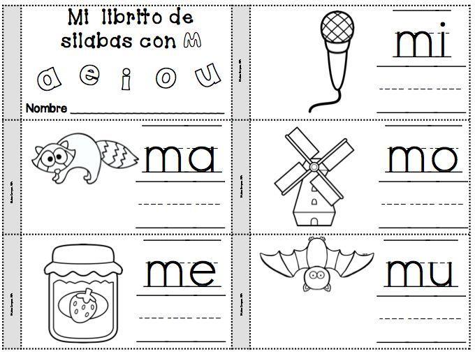 Lectoescritura Letra Ma Me Mi Mo Mu