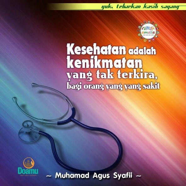 Kesehatan Adalah Kenikmatan Yang Tak Terkira Bagi Orang Yang Yang