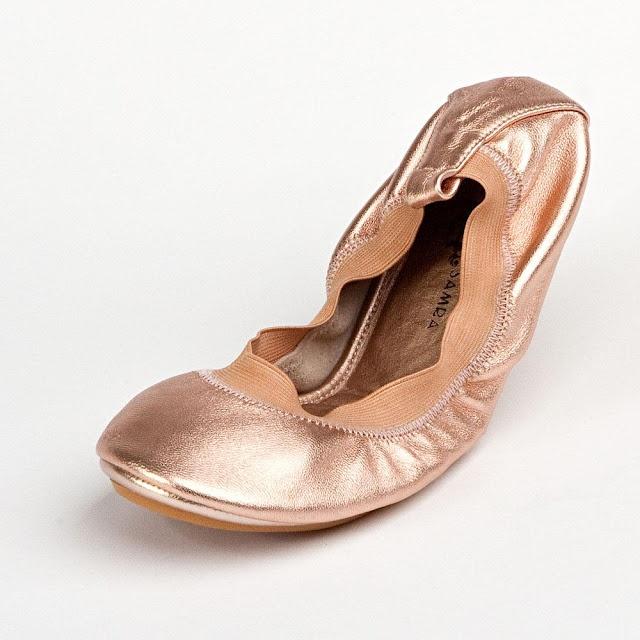 Yosi Samra rose gold ballet flats
