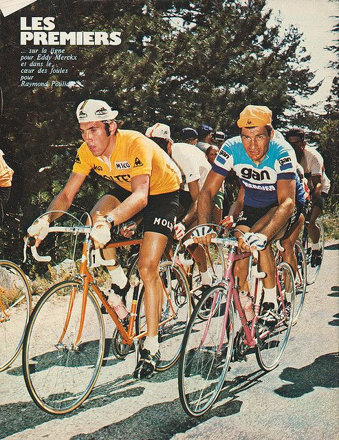 Raymond Poulidor and Eddy Merckx