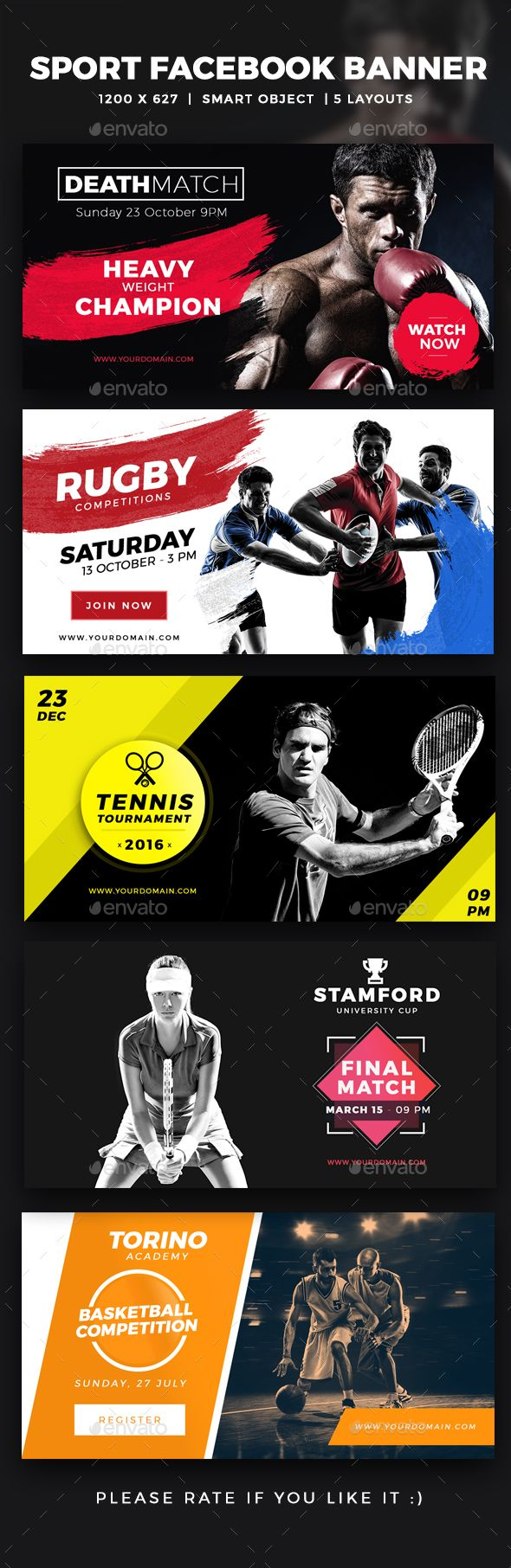 Facebook Sports Ads Post Banner - Social Media Web Elements