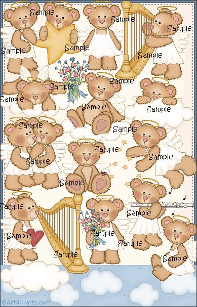 Craft Clipart 32: Angel Bears