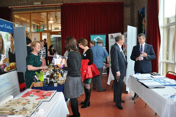 Guests Mingle with Exhibitors