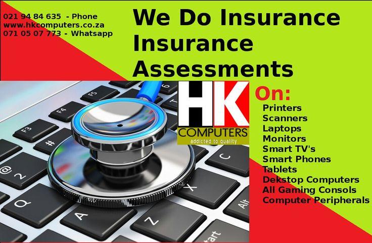 Insurance assessments done in Cape Town South Africa & South Africa at large. Shock damage, Liquid damage (water etc), Heat damage, Lightning damage, Surge damage, Malfunctioning Software & Hardware.