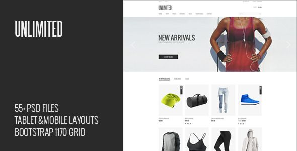 Unlimited - eCommerce PSD Template