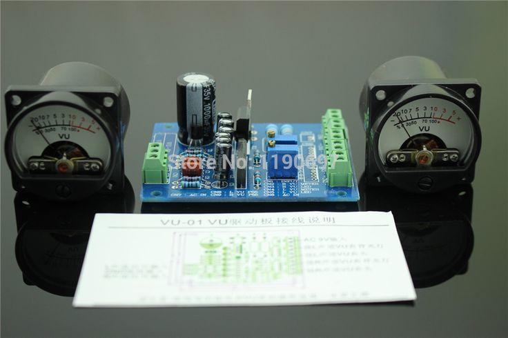 1 مجموعة 500VU لوحة vu متر مستوى الصوت متر 6-12 فولت مستوى الصوت مع دافئ الخلفية الشحن مجانا