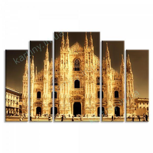 Картина Миланский кафедральный собор