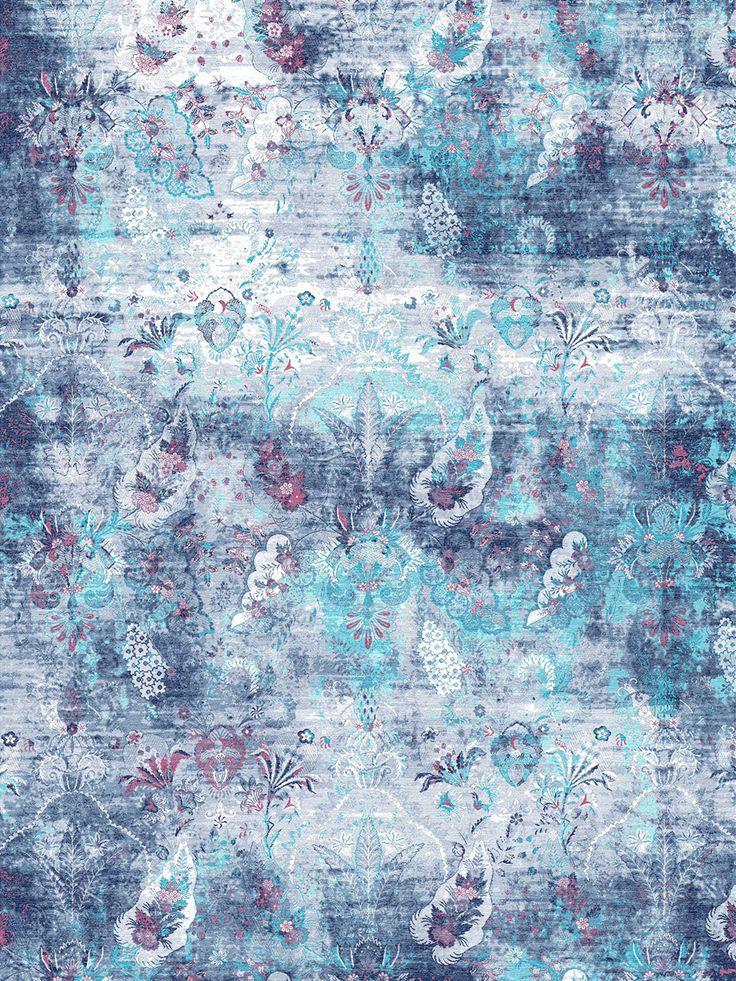 Ethos - Dark Blue Rug | Bazaar Velvet | London Rug Shop
