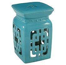 Lia Ceramic Garden Stool,  Turquoise
