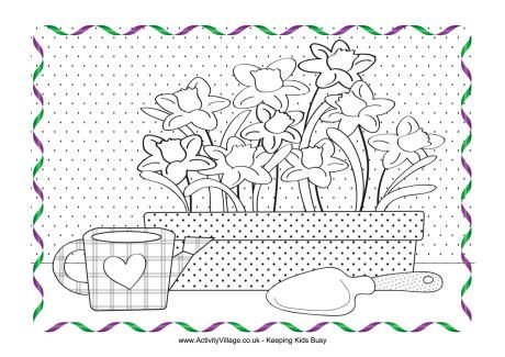 Colouring Pages With Pictures And Spring Poems 98