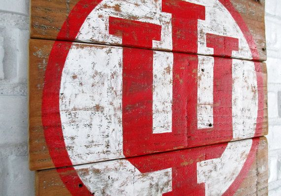 This sign features the Indiana University logo hand-painted on reclaimed  wood by VintageSignDesigns. | Pro & College Team Sport Signs | Pinterest |  Indiana ... - This Sign Features The Indiana University Logo Hand-painted On