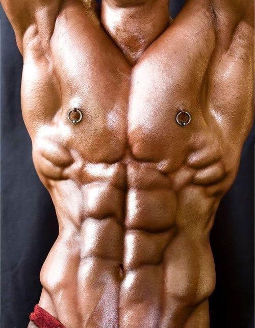 Male Model Nipple Piercing