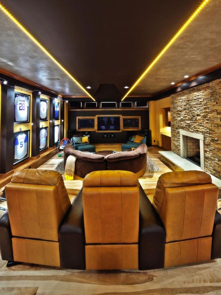 Man Cave Ideas   Fresh New Ideas For Man Caves. Contemporary HomesContemporary  FurnitureMedia Room DesignHome ...