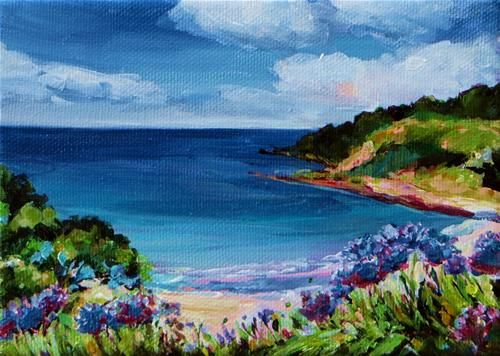 """Daily Paintworks - """"Waiheke Summer"""" by Coral Barclay"""