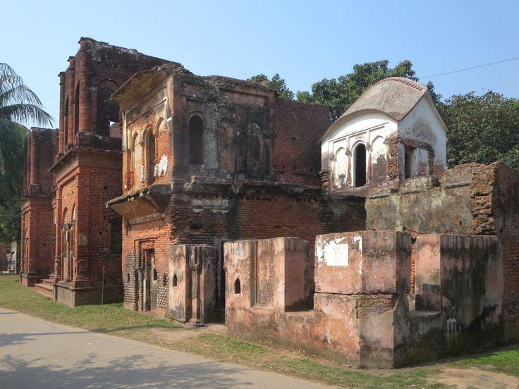 The abandoned homes (1895-1905) of wealthy Hindu merchants line Painam Nagar at Sonargaon near Dhaka, Bangladesh.