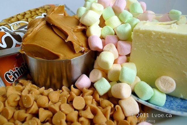 Butterscotch Peanut Butter Marshmallow Squares a.k.a ...