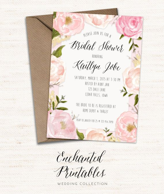 Rustic Spring Bridal Shower Invitation by enchantedprintables