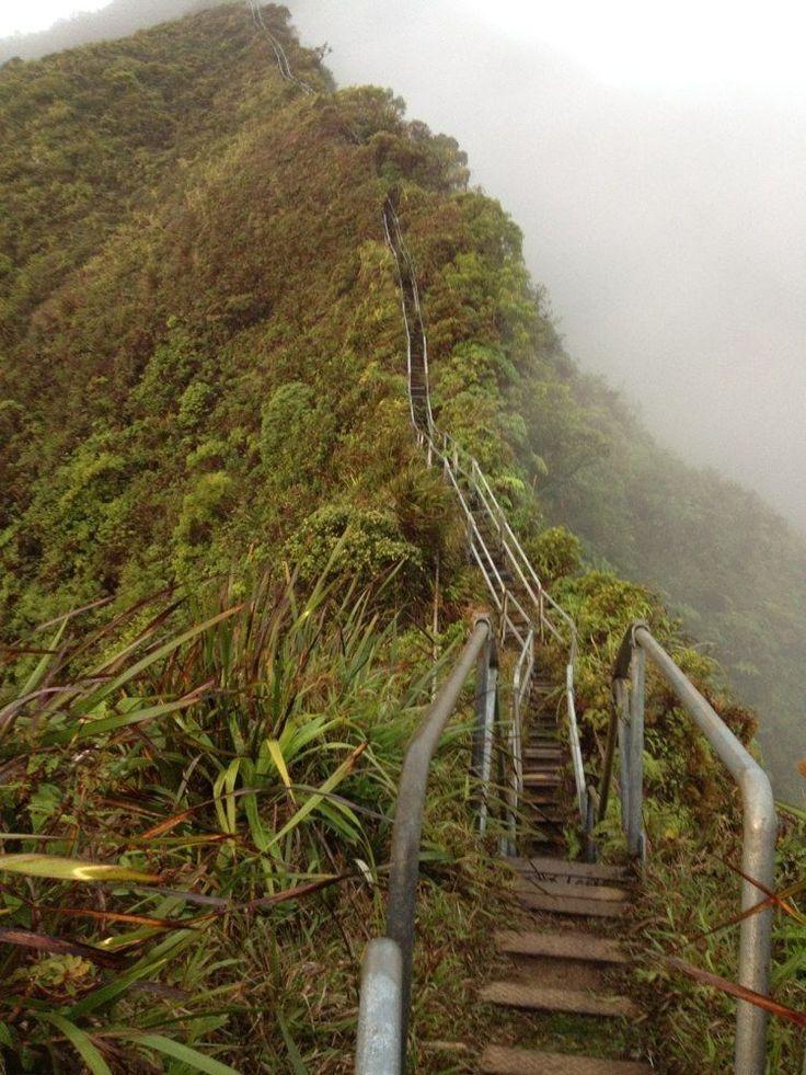 Haiku Stairs Closed Private Property Stairway To