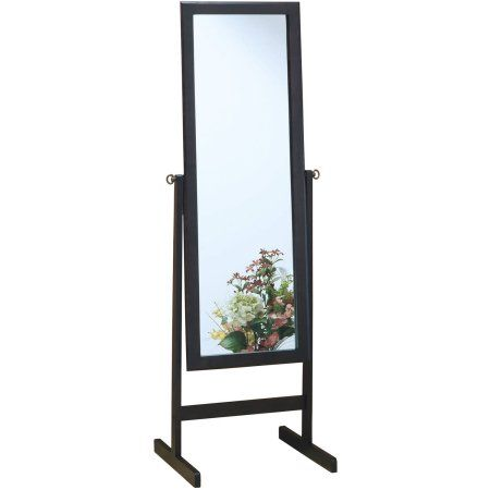 Mirror - 60 inchH / Cappuccino Wood Frame, Brown