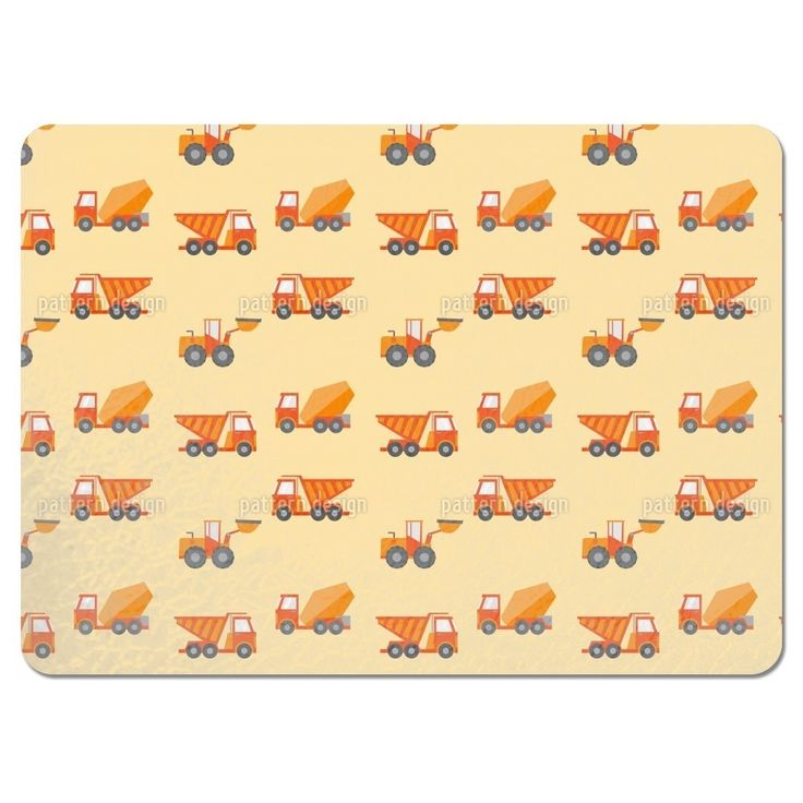 Uneekee Construction Machine Placemats