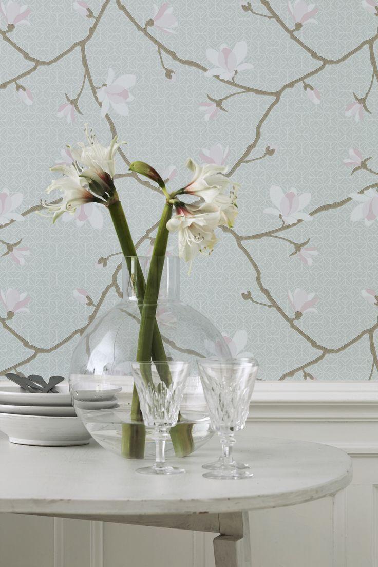 Jubileum - Magnolia #boråstapeter #Jubileum #wallpaper #tapet