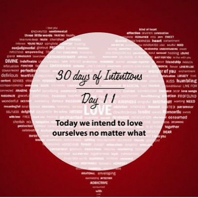Day 11: 30 days of intentions. Today we intend to love ourselves no matter what #love #selflove #dailyintention #affirmation #stralastyle