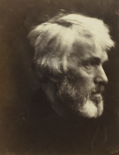 1867.Thomas Carlyle (1795-1881) Julia Margaret Cameron (1815-79) Albumen print | 31.6 x 24.7 cm. celebrated historian and essayist, was widely admired by Cameron's artist friends, including Millais, Rossetti and Watts. In 1869 Queen Victoria met Carlyle at a reception at Westminster Abbey. She described him as 'a strange looking, eccentric old Scotchman, who holds forth in a rather drawling melancholy voice upon Scotland & the utter degeneration of everything!'