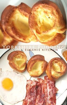 3-ingredient crisp Yorkshire pudding to complete your meal. Ready in 30 minutes. Perfect with meat: roast beef, bacon, ham, etc.