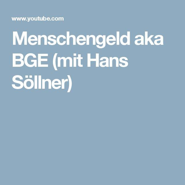 Menschengeld aka BGE (mit Hans Söllner)