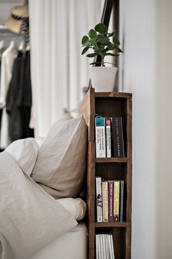 Headboard that doubles as a bookshelf? Genius!