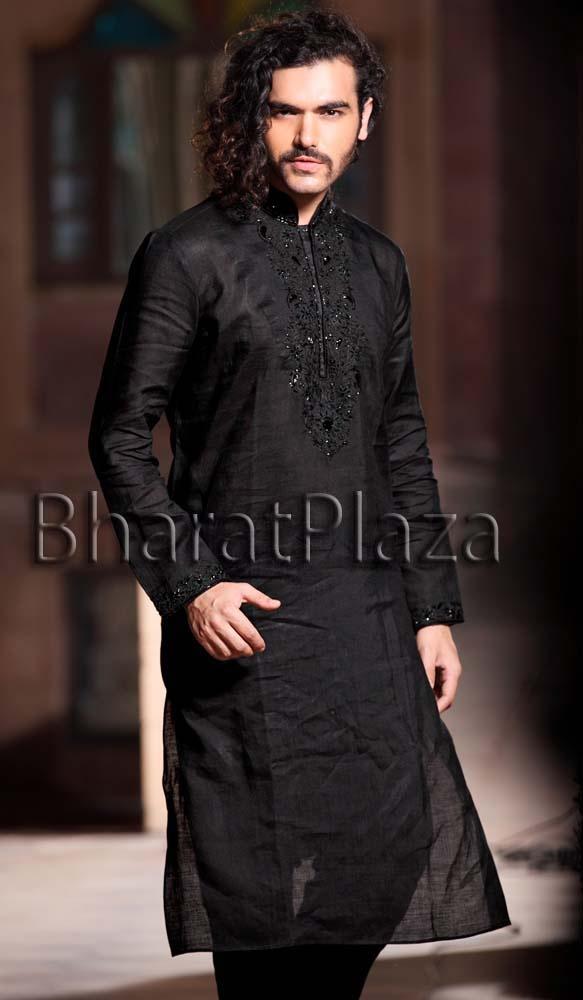 Black Kurta Pyjama Item code: SKB9913 https://twitter.com/bharatplaza_in https://www.facebook.com/bharatplazaindianbridal