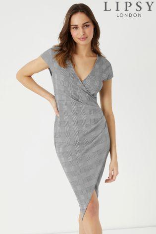 9e85a20a Lipsy Check Wrap Bodycon Dress | Female Boss | Dresses, Bodycon ...