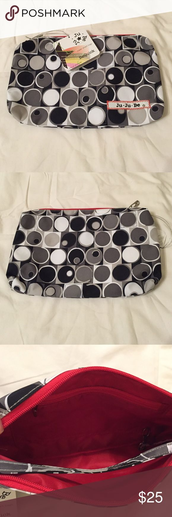 NWT JuJuBe Be Quick in Midnight Eclipse New with tags Be Quick from JuJuBe in Midnight Eclipse. Black white and grey, with bright red lining. JuJuBe Accessories Bags