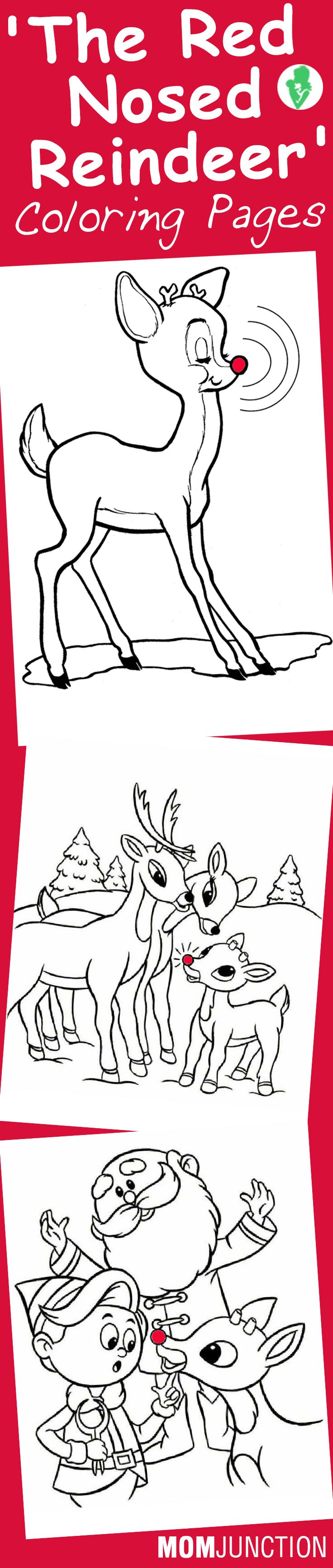 Christmas coloring pages rudolph red nosed reindeer - Top 20 Free Printable Rudolph The Red Nosed Reindeer Coloring Pages Online